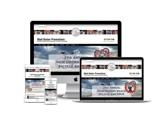 Madhatter Promotions Event Planner Melbourne Cocoa Florida HTML web design and website maintenance by Brilliant Blue Designs Royal Oak Michigan