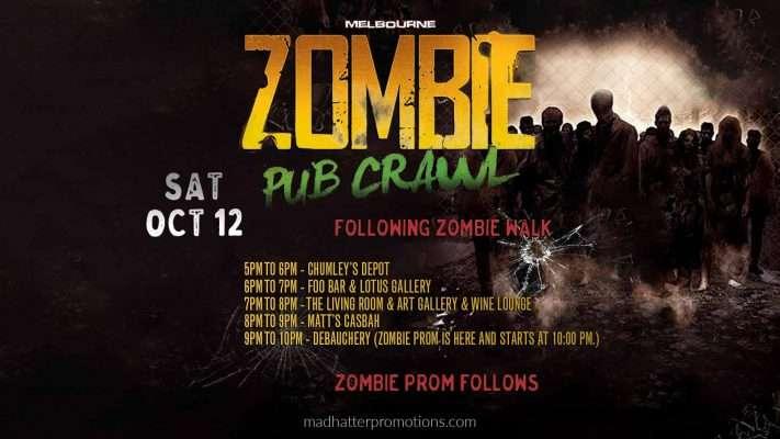 Pub Crawl Digital Marketing Event Banner Design Zombie Pub Crawl