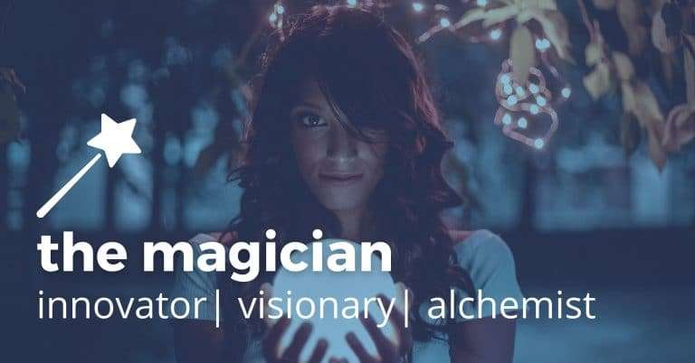magician brand archetype brilliant blue designs